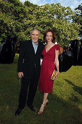 DENNIS HOPPER and his wife VICTORIA at the annual Serpentine Gallery Summer Party in association with Swarovski held at the gallery, Kensington Gardens, London on 11th July 2007.<br />