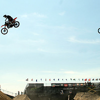 Doubles run at the FMX Finals at the AST Dew Tour Right Guard Open in Cleveland...Photo by Ken Blaze
