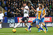 Bolton's Gary Madine (14) through on goal during the EFL Sky Bet League 1 match between Bolton Wanderers and Shrewsbury Town at the Macron Stadium, Bolton, England on 26 December 2016. Photo by Craig Galloway.