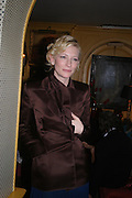 Cate Blanchett. Artists Independent Networks  Pre-BAFTA Party at Annabel's co hosted by Charles Finch and Chanel. Berkeley Sq. London. 11 February 2005. . ONE TIME USE ONLY - DO NOT ARCHIVE  © Copyright Photograph by Dafydd Jones 66 Stockwell Park Rd. London SW9 0DA Tel 020 7733 0108 www.dafjones.com
