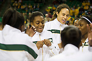 WACO, TX - DECEMBER 12:  Brittney Griner #42 and the Baylor University Bears dance on the court before tipoff against the Oral Roberts University Golden Eagles on November 13, 2012 at the Ferrell Center in Waco, Texas.  (Photo by Cooper Neill/Getty Images) *** Local Caption *** Brittney Griner