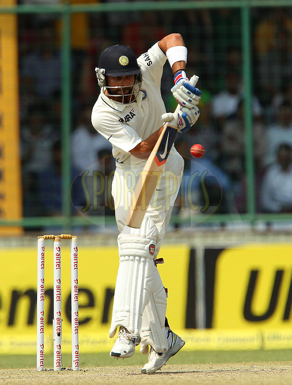 Virat Kohli of India during day 3 of the 4th Test Match between India and Australia held at the Feroz Shah Kotla stadium in Delhi on the 24th March 2013..Photo by Ron Gaunt/BCCI/SPORTZPICS ..Use of this image is subject to the terms and conditions as outlined by the BCCI. These terms can be found by following this link:..http://www.sportzpics.co.za/image/I0000SoRagM2cIEc