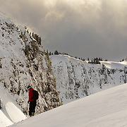 Mark Kogelmann looks into what awaits in the backcountry near Mount Baker Ski Area in the Cascades of Washington.