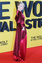 © Licensed to London News Pictures. 09/01/2014, UK. Margot Robbie, The Wolf of Wall Street - UK film premiere, Odeon Leicester Square, London UK, 09 January 2014. Photo credit : Richard Goldschmidt/Piqtured/LNP