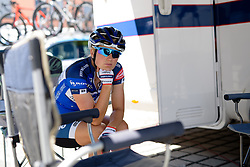 Hot and bothered - Lotta Lepistö at Thüringen Rundfarht 2016 - Stage 6 a 130 km road race starting and finishing in Schleiz, Germany on 20th July 2016.