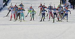 11.03.2016, Holmenkollen, Oslo, NOR, IBU Weltmeisterschaft Biathlon, Oslo, 4x6 Km Staffel, Damen, im Bild Start biegu // during 4x6 km women relay of the IBU World Championships, Oslo 2016 at the Holmenkollen in Oslo, Norway on 2016/03/11. EXPA Pictures © 2016, PhotoCredit: EXPA/ Newspix/ Tomasz Jastrzebowski<br /> <br /> *****ATTENTION - for AUT, SLO, CRO, SRB, BIH, MAZ, TUR, SUI, SWE only*****