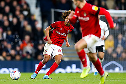 Han-Noah Massengo of Bristol City passes through to Andi Weimann - Rogan/JMP - 07/12/2019 - Craven Cottage - London, England - Fulham v Bristol City - Sky Bet Championship.