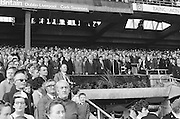 Crowds stands for national anthem before at the All Ireland Senior Hurling Final, Cork v Kilkenny in Croke Park on the 3rd September 1972. Kilkenny 3-24, Cork 5-11.