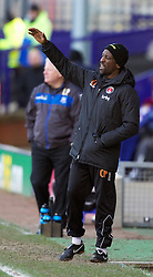 BIRKENHEAD, ENGLAND - Saturday, February 18, 2012: Charlton Athletic's manager Chris Powell looks dejected during the Football League One match against Tranmere Rovers at Prenton Park. (Pic by Vegard Grott/Propaganda)