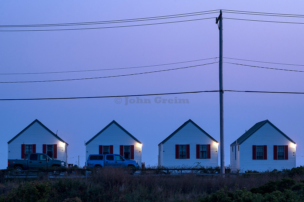 Beach cottages, Truro, Cape Cod, Massachusetts, USA.