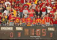 September 26, 2009: Iowa State fans cheer on their team during the first half of the Iowa State Cyclones' 31-10 win over the Army Black Knights at Jack Trice Stadium in Ames, Iowa on September 26, 2009.