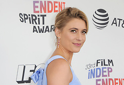 Greta Gerwig at the 2018 Film Independent Spirit Awards held at Santa Monica Beach, USA on March 3, 2018.
