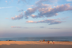families on the beach in The Hamptons