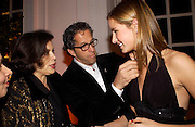 Bianca Jaggger, Amanda Cole with her father Kenneth Cole. Mario Testino, Bianca Jagger and Kenneth Cole celebrate Women to Women: Positively Speaking. - A publication to raise awareness of women living with Aids. The Orangery, Kensington Palace. 2 December 2004. ONE TIME USE ONLY - DO NOT ARCHIVE  © Copyright Photograph by Dafydd Jones 66 Stockwell Park Rd. London SW9 0DA Tel 020 7733 0108 www.dafjones.com