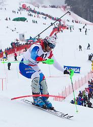 22.01.2012, Ganslernhang, Kitzbuehel, AUT, FIS Weltcup Ski Alpin, 72. Hahnenkammrennen, Herren, Slalom 1. Durchgang, im Bild Silvan Zurbriggen (SUI) // Silvan Zurbriggen of Switzerland during Slalom race 1st run of 72th Hahnenkammrace of FIS Ski Alpine World Cup at 'Ganslernhang' course in Kitzbuhel, Austria on 2012/01/22. EXPA Pictures © 2012, PhotoCredit: EXPA/ Johann Groder