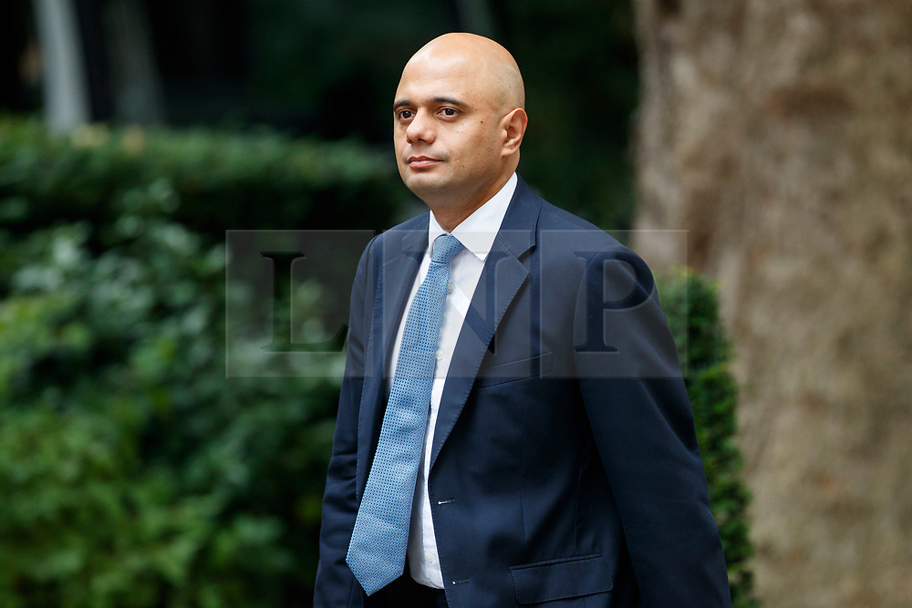 © Licensed to London News Pictures. 11/07/2017. London, UK. Local Governments and Communities Secretary SAJID JAVID attends a cabinet meeting in Downing Street, London on Tuesday, 11 July 2017. Photo credit: Tolga Akmen/LNP