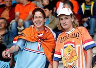 23-05-2008 VOETBAL:JONG ORANJE:JONG ZWITSERLAND:TILBURG<br /> Jonge Oranje supporters op de tribune in Tilburg<br /> Foto: Geert van Erven