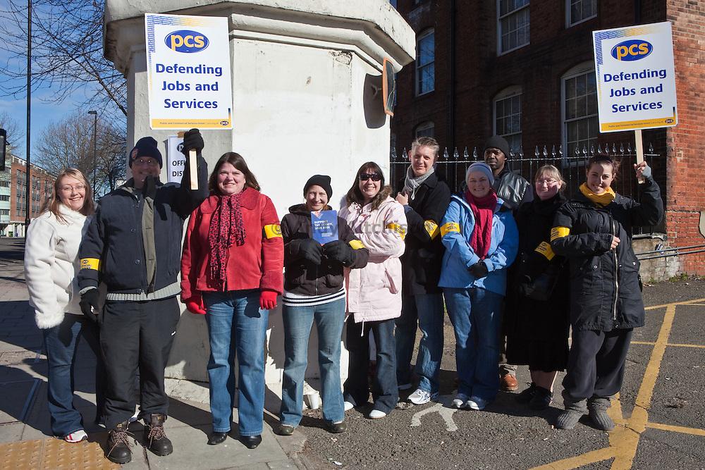 PCS members striking outside HMP Pentonville.