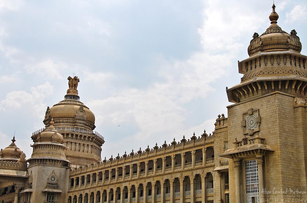The Vidhana Soudha, home to the Karnataka Legislature in Bangalore, India