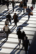 commuters crossing near Grand Central station NYC