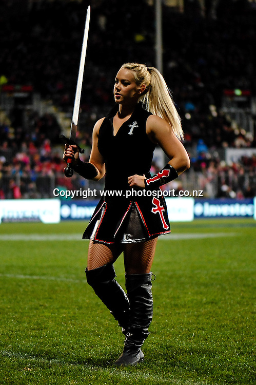 A Maiden in the Super rugby match,  Crusaders v The Blues, at AMI Stadium, Christchurch, on the 5 July 2014 . Photo:John Davidson/www.photosport.co.nz