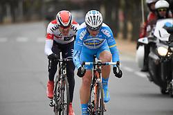 08.03.2016, Contres - Commentry, FRA, Paris Nizza, 2. Etappe, im Bild Matthias Brändle (AUT), siskevicius evaldas (lit) // during the 2nd Stage of Paris- Nice Cycling Tour at Contres - Commentry, France on 2016/03/08. EXPA Pictures © 2016, PhotoCredit: EXPA/ Pressesports/ PAPON BERNARD<br /> <br /> *****ATTENTION - for AUT, SLO, CRO, SRB, BIH, MAZ, POL only*****