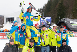 Farewell of Andrej Jerman before the 2nd Run of Men's Slalom - Pokal Vitranc 2013 of FIS Alpine Ski World Cup 2012/2013, on March 10, 2013 in Vitranc, Kranjska Gora, Slovenia.  (Photo By Matic Klansek Velej / Sportida.com)