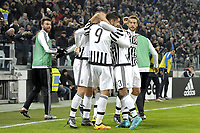 Esultanza giocatori Juventus dopo gol Alvaro Morata 2-0, goal celebration, <br /> Torino 27-01-2016, Juventus Stadium, Football Calcio 2015/2016 Coppa Italia, Juventus - Inter, Foto Filippo Alfero/Insidefoto