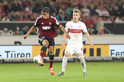 25.10.2013, Mercedes Benz Arena, Stuttgart, GEr, 1. FBL, VfB Stuttgart vs 1.FC Nuernberg, Fussball, 1.Bundesliga, 25.10.2013, 10. Runde, im Bild Links Timothy Chandler ( 1 FC Nuernberg ) Rechts Alexandru Maxim ( VfB Stuttgart ) Zweikampf, Aktion, Action // during the German Bundesliga 10th round match between VfB Stuttgart and 1. FC Nuernberg at the Mercedes Benz Arena in Stuttgart, Germany on 2013/10/26. EXPA Pictures © 2013, PhotoCredit: EXPA/ Eibner-Pressefoto/ Langer<br /> <br /> *****ATTENTION - OUT of GER*****