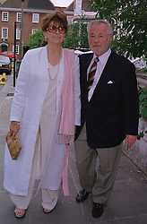 Actress NANETTE NEWMAN and her husband MR BRYAN FORBES, at a party in London on 30th June 1999.MTY 42