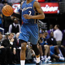 February 1, 2011; New Orleans, LA, USA; Washington Wizards point guard John Wall (2) against the New Orleans Hornets during the second half at the New Orleans Arena. The Hornets defeated the Wizards 97-89.  Mandatory Credit: Derick E. Hingle