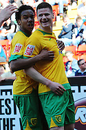 London - Saturday, April 17th 2010: Michael Nelson of Norwich City celebrates his opening goal during the Coca Cola League One match at The Valley, Charlton...(Pic by Alex Broadway/Focus Images)