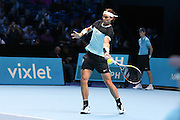 Rafael Nadal during the ATP World Tour Finals at the O2 Arena, London, United Kingdom on 20 November 2015. Photo by Phil Duncan.