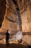 30ft. waterfall in a central Tennessee cave.