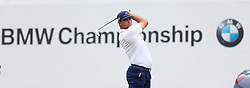 September 8, 2018 - Newtown Square, Pennsylvania, United States - Gary Woodland tees off the 17th hole during the third round of the 2018 BMW Championship. (Credit Image: © Debby Wong/ZUMA Wire)