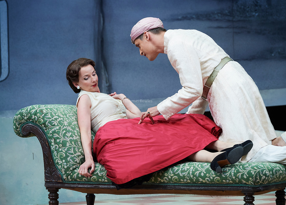 23nd June 2017.Il Turco in Italia, Rossini  at Garsignton Opera. <br /> <br /> Fiorilla - Sarah Tynan<br /> Selim - Quirijn de Lang