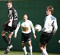 Fotball <br /> La Manga - Spania <br /> 21.03.08<br /> Hønefoss  v  Randaberg  1-0 <br /> <br /> Foto: Dagfinn Limoseth, Digitalsport<br /> <br /> Håkon Stenersen ,  Randaberg og Christian L. Nygaard  ,Hønefoss