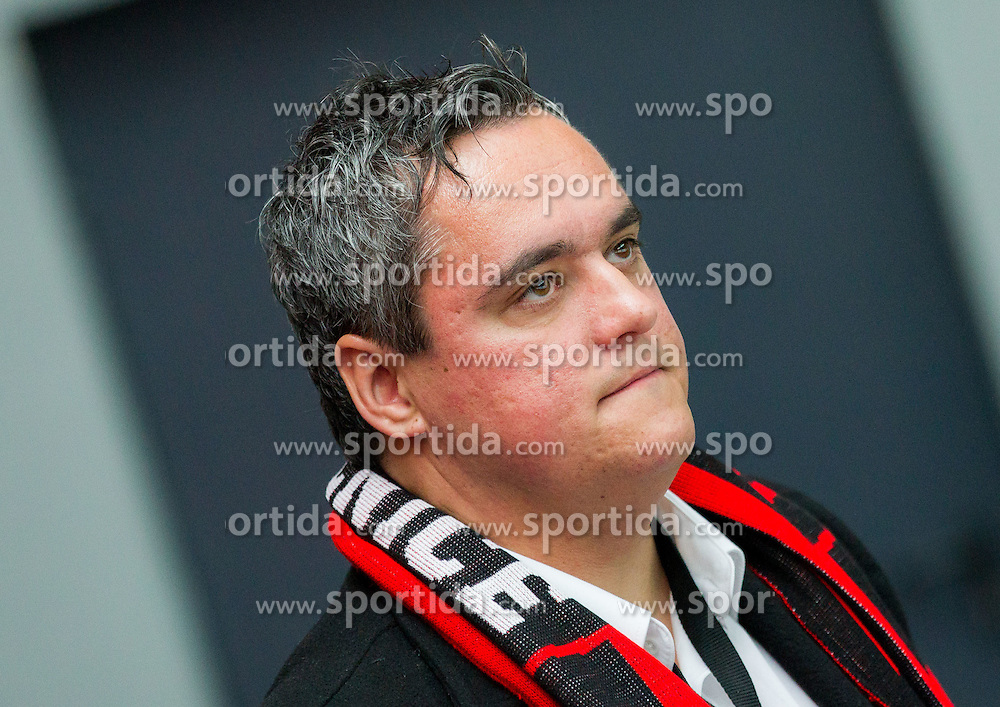 Anze Pogacar, president of HDD Jesenice  during Ice hockey match between HDD SIJ Acroni Jesenice and HDD Telemach Olimpija in Main Round of Slovenian National Championship 2014/15, on October 28, 2014 in Arena Podmezakla, Jesenice, Slovenia. Photo by Vid Ponikvar / Sportida