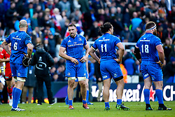 Leinster Rugby players cut dejected figures after losing in the Final of the Heineken Champions Cup to Saracens - Mandatory by-line: Robbie Stephenson/JMP - 11/05/2019 - RUGBY - St James' Park - Newcastle, England - Leinster Rugby v Saracens - Heineken Champions Cup Final