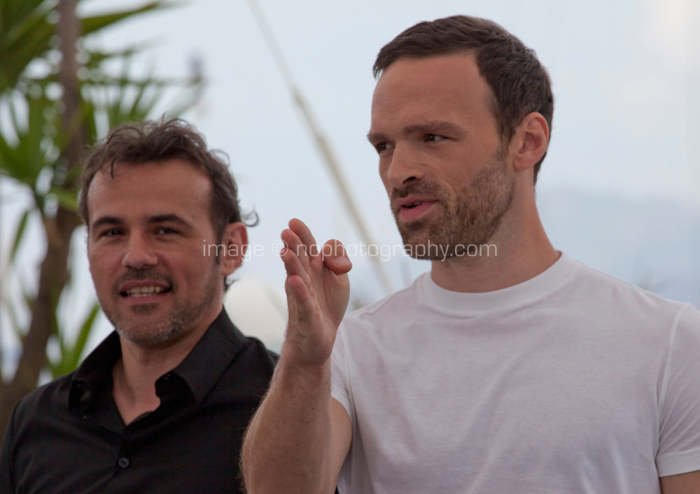 Actors Stephane Rideau and Alban Lenoir at the Gueule D'ange (Angel Face) film photo call at the 71st Cannes Film Festival, Saturday 12th May 2018, Cannes, France. Photo credit: Doreen Kennedy