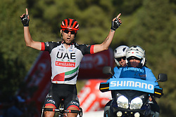 October 13, 2017 - Marmaris, Turkey - Italian DIEGO ULISSI of UCI ProTour team UAE Team Emirates, wins the fourth stage - the 204.1 km Turkish Airlines Marmaris to Selcuk stage of the 53rd Presidential Cycling Tour of Turkey 2017. (Credit Image: © Artur Widak/NurPhoto via ZUMA Press)