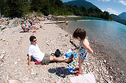 Roddy and Eliza at Diablo Lake, North Cascades National Park, Washington, US