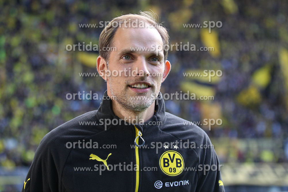 27.09.2015, Signal Iduna Park, Dortmund, GER, 1. FBL, Borussia Dortmund vs SV Darmstadt 98, 7. Runde, im Bild Trainer Thomas Tuchel (Borussia Dortmund) // during the German Bundesliga 7th round match between Borussia Dortmund and SV Darmstadt 98 at the Signal Iduna Park in Dortmund, Germany on 2015/09/27. EXPA Pictures &copy; 2015, PhotoCredit: EXPA/ Eibner-Pressefoto/ Schueler<br /> <br /> *****ATTENTION - OUT of GER*****