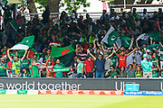 Pakistan and Bangladesh fans wave thier flags during the ICC Cricket World Cup 2019 match between Pakistan and Bangladesh at Lord's Cricket Ground, St John's Wood, United Kingdom on 5 July 2019.
