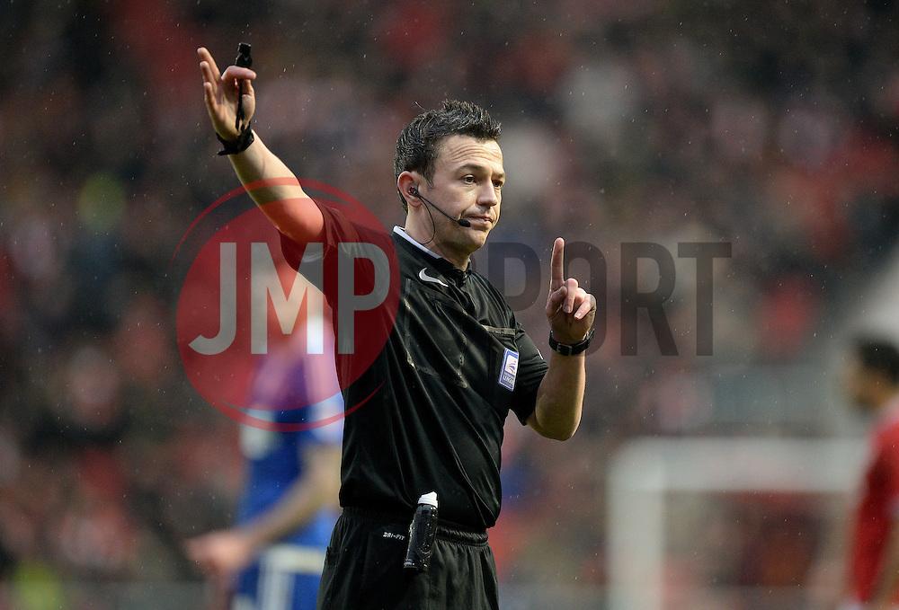 Referee Tony Harrington - Mandatory byline: Alex James/JMP - 13/02/2016 - FOOTBALL - Ashton Gate - Bristol, England - Bristol City v Ipswich Town - Sky Bet Championship
