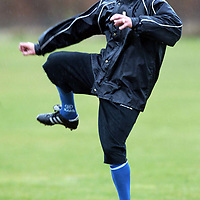 St Johnstone Training...19.03.04<br />Paul Bernard concentrates on the ball during training before tommorrow's crunch game v Clyde.<br />see story by Gordon Bannerman Tel: 01738 553978 or 07729 865788<br />Picture by Graeme Hart.<br />Copyright Perthshire Picture Agency<br />Tel: 01738 623350  Mobile: 07990 594431