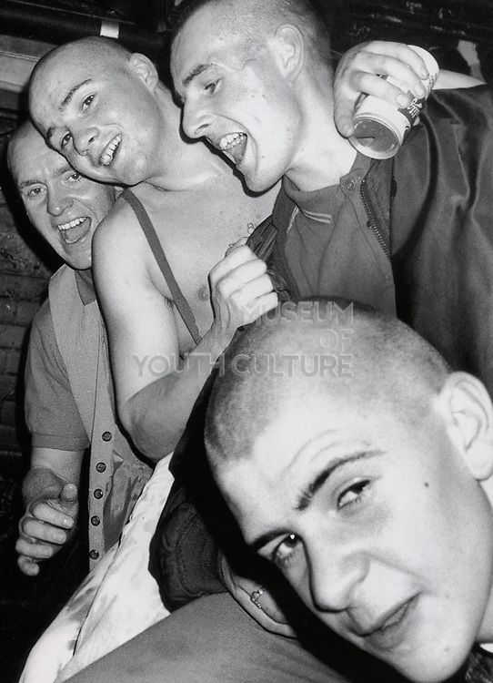 Group of skinheads, 1980s.