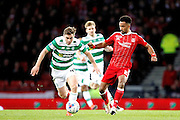 Celtic's James Forrest (49) and Aberdeen's  Shaleum Logan (2) during the Betfred Scottish Cup  Final match between Aberdeen and Celtic at Hampden Park, Glasgow, United Kingdom on 27 November 2016. Photo by Craig Galloway.