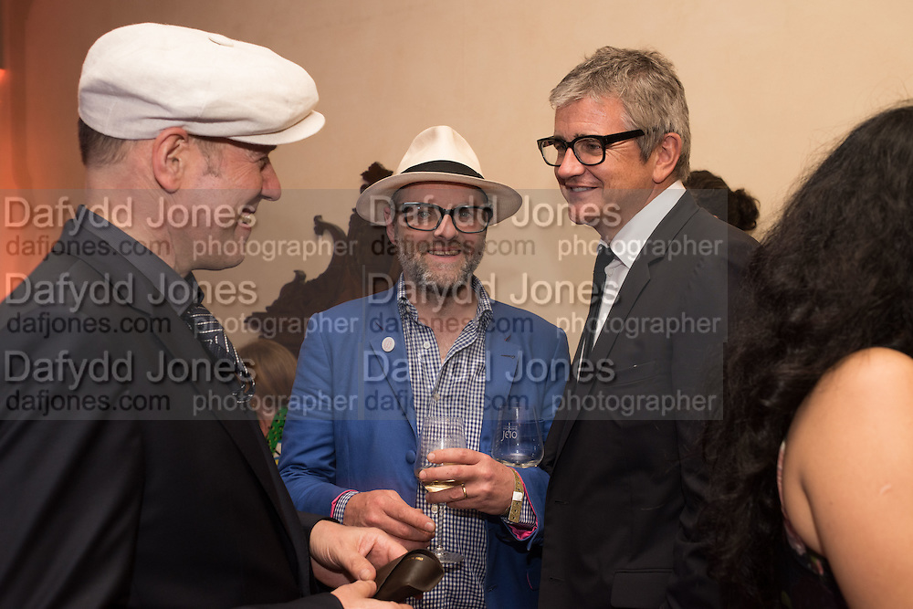 PAUL SIMONON; GAVIN TURK; JAY JOPLING, Sarah Lucas- Scream Daddio party hosted by Sadie Coles HQ and Gladstone Gallery at Palazzo Zeno. Venice. 6 May 2015.