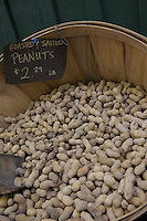 Peanuts in basket on display in market